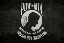 POW MIA Flag, Worn Distressed ...