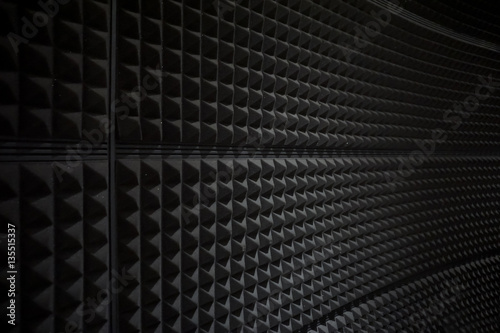 Valokuvatapetti Close up of studio sound acoustical foam Background