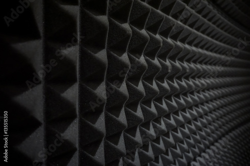 Valokuva  Close up of studio sound acoustical foam Background