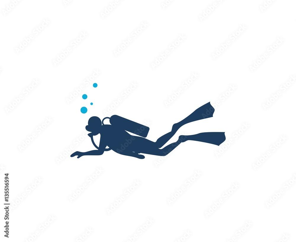 Fototapeta Scuba diving logo