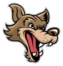 Cartoon Of Bad Wolf Head
