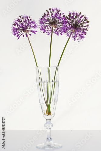 Lily of the valley and decorative onions