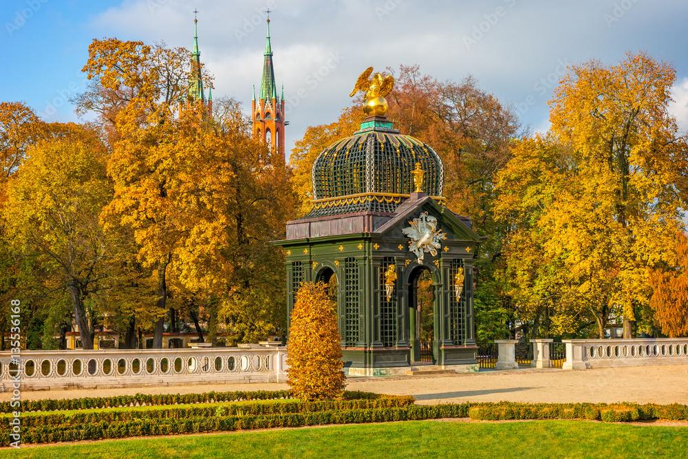 Fototapety, obrazy: Ogrody Pałacu Branickich jesienią, Białystok, Polska