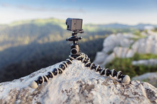 Action Camera Mounted On A Tri...