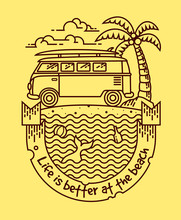Life Is Better Vector Illustra...