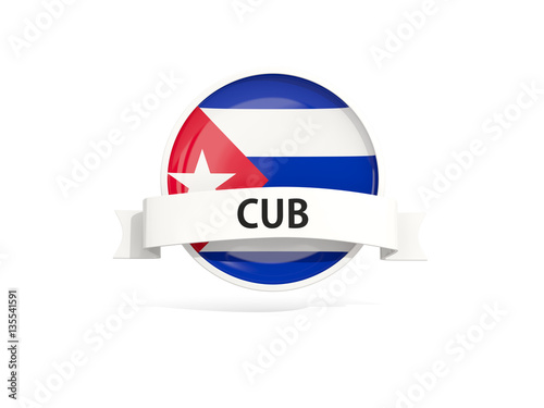 Flag of cuba with banner Wallpaper Mural