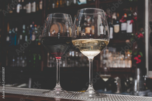 Leinwand Poster Vino Rosso, vino bianco