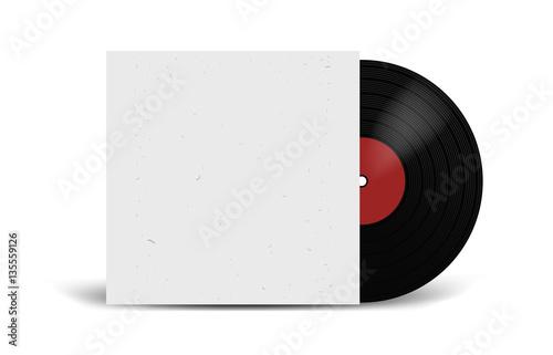 Fotografía  Realistic Vinyl Record with Cover Mockup