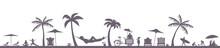 Strandleben Mit Palmen