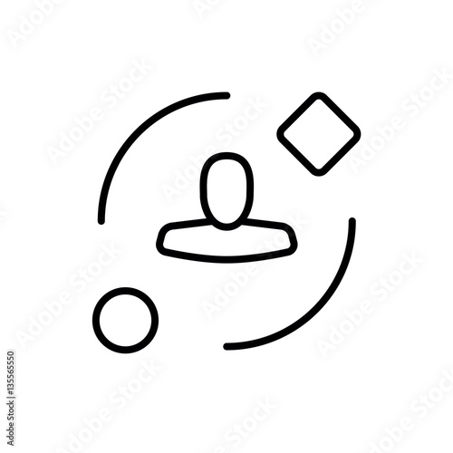 Symbol Of Ambient User Experience Thin Line Icon Of Future