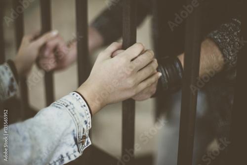 Fotografie, Obraz  Prison visit.