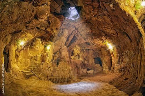 Tablou Canvas Derinkuyu cave  underground city, Cappadocia , Turkey