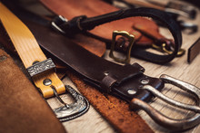 Group Of Leather Belts