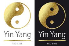 Logo Yin Yang Golden