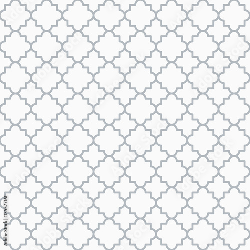 fototapeta na drzwi i meble Traditional quatrefoil lattice pattern outline