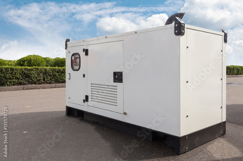 Mobile diesel generator for emergency electric power Fototapet