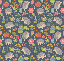 Seamless Pattern Forest With  ...