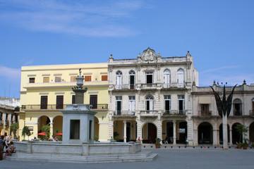 Fototapeta na wymiar Colonial balconies in Havana, Cuba