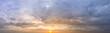 Leinwandbild Motiv Evening sun With beautiful clouds