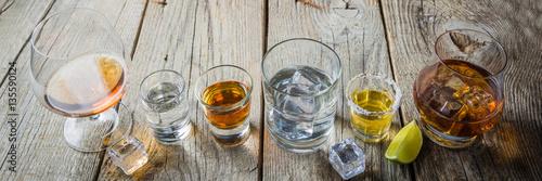 Poster de jardin Bar Selection of alcoholic drinks