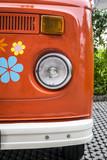 Old red vintage van - 135590900