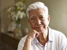 Portrait Of A Sad Senior Asian...