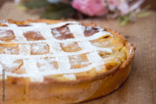 Vászonkép Italian Pastiera, traditional Easter tart from Naples