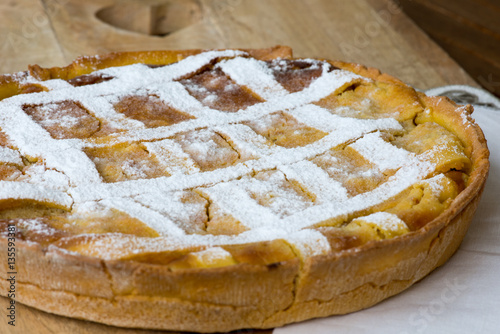 Obraz na plátne Italian Pastiera, traditional Easter tart from Naples