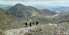 Hiking On Scafell Pike  Lookin...