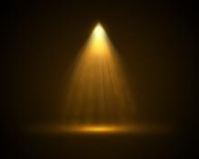 Single Yellow Top Light Illuminated Background.