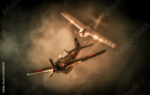 Photo  Aerial combat based on attack on Pearl Harbor | US vs. Japan