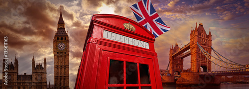 Aluminium Prints London London photomount with telephone box