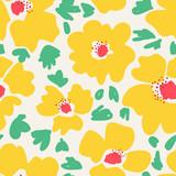 wzór z ręcznie rysowane kwiaty - 135611323