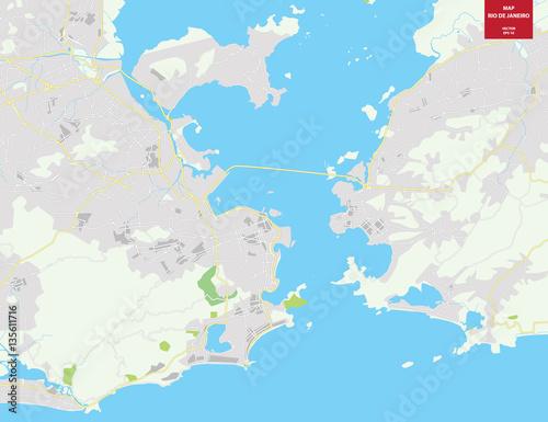 vector-color-map-of-rio-de-janeiro-brazil-city-plan-of-rio-de-janeiro-vector-illustration