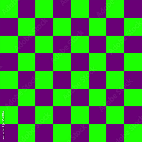 Purple and green Chess board 8 by 8 grid, High resolution background and 3D repe Poster