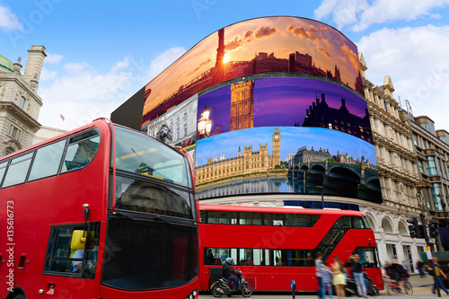 Photo  Piccadilly Circus London digital photomount