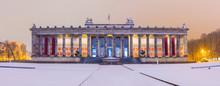 Berlin Lustgarten Bei Nacht - Altes Museum - Panorama Schnee Winter Schinkel Architektur, Berlin At Night, Berlin By Night, Museumsinsel, Romantic Berlin, Culture And Arts, Berliner Baukunst, Winter
