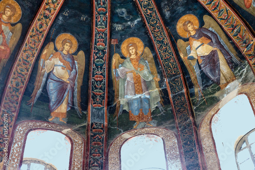 Fresco of archangels Wallpaper Mural