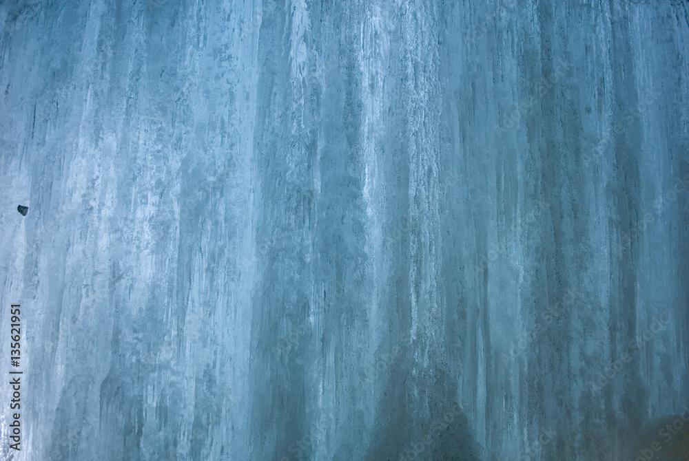 Muro texture di ghiaccio di una cascata all interno di una