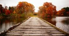 Wooden Autumn Bridge