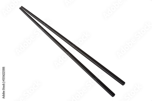 Black chopsticks Canvas Print