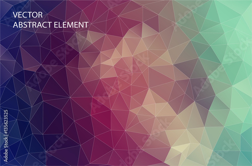 Abstract 2D geometric colorful background. Design for web.