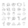 Set of icons with food.
