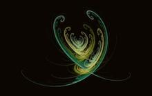 Fractal Heart Valentine On Black