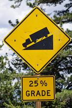 Steep Road Sign