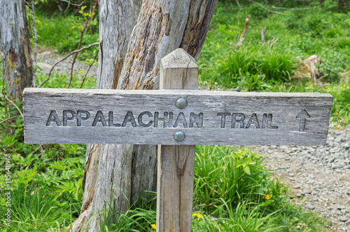 Appalachian Trail Sign Fototapet