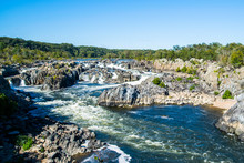 Strong White Water Rapids In G...