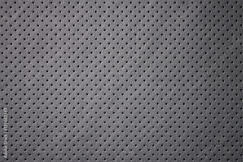 Fotografia, Obraz  Car perforated leather background. Interior detail. Macro photo.