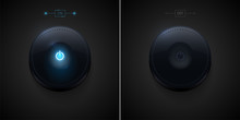 Glossy Power Button In Two Postion - ON And OFF