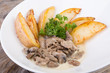 Beef stroganoff with poatoes